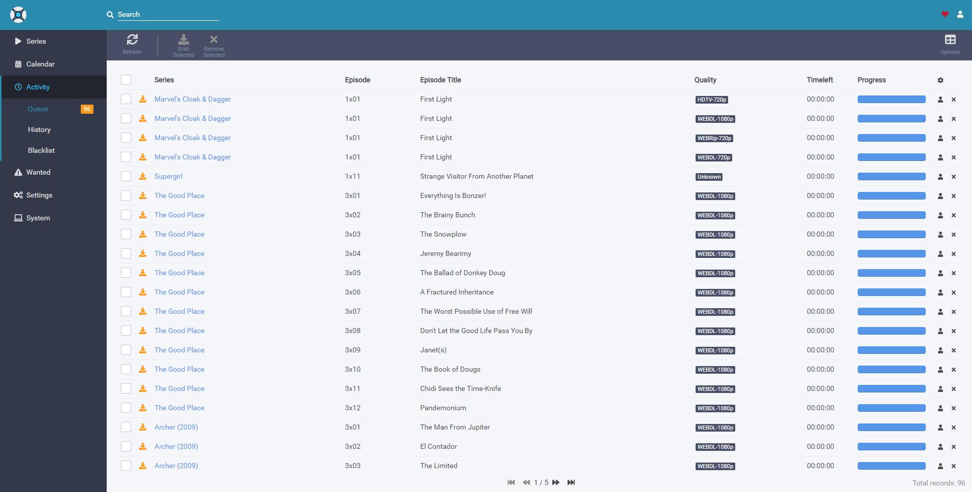Sonarr adding extra files to activity queue - v3 Testing